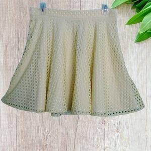 Necessary Objects Skater Netting Mini Skirt